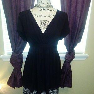 Motherhood black dress top